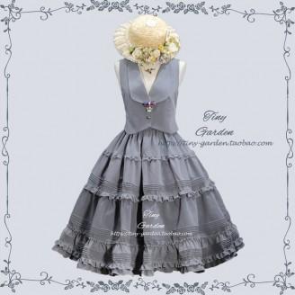 Tiny Garden College School Style Lolita Vest & Skirt Set (TG02)